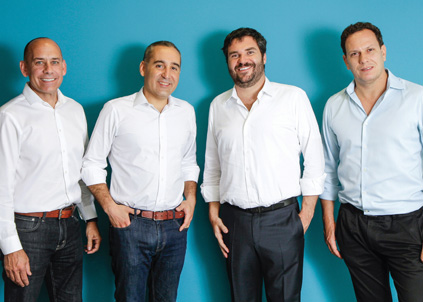 Os sócios: John deTar, Guilherme Soter, Raphael Klein e Ricardo Marques