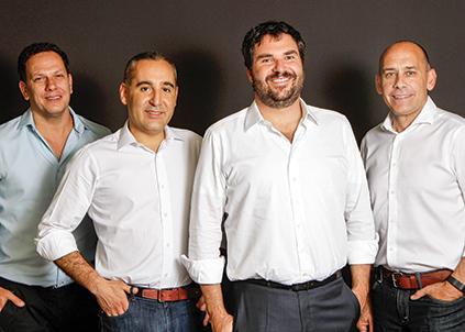 Sócios da ROIx da esquerda para direita: Ricardo Marques, Guilherme Soter, Raphael Klein e John deTar.