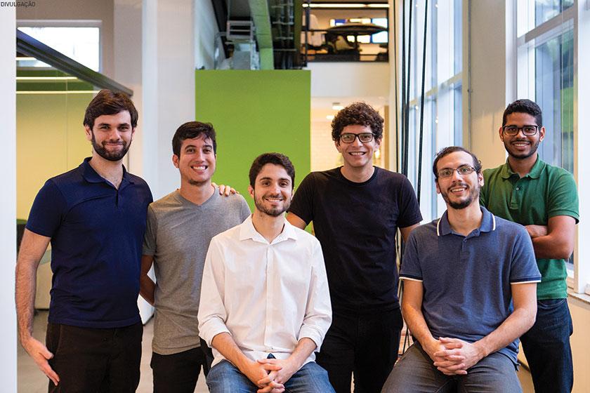 Gabriel Falcone, Lucas Queiroz, André Ferraz, Alan Gomes, Airton Sampaio e Denyson Messias, os sócios-fundadores da In Loco, em Recife